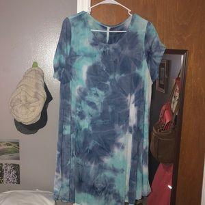 Adorabelles blue tie dye dress (DESC FOR SIZE!)